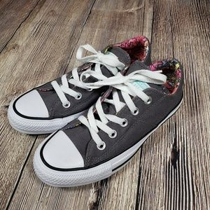 Converse grey floral womens size 5